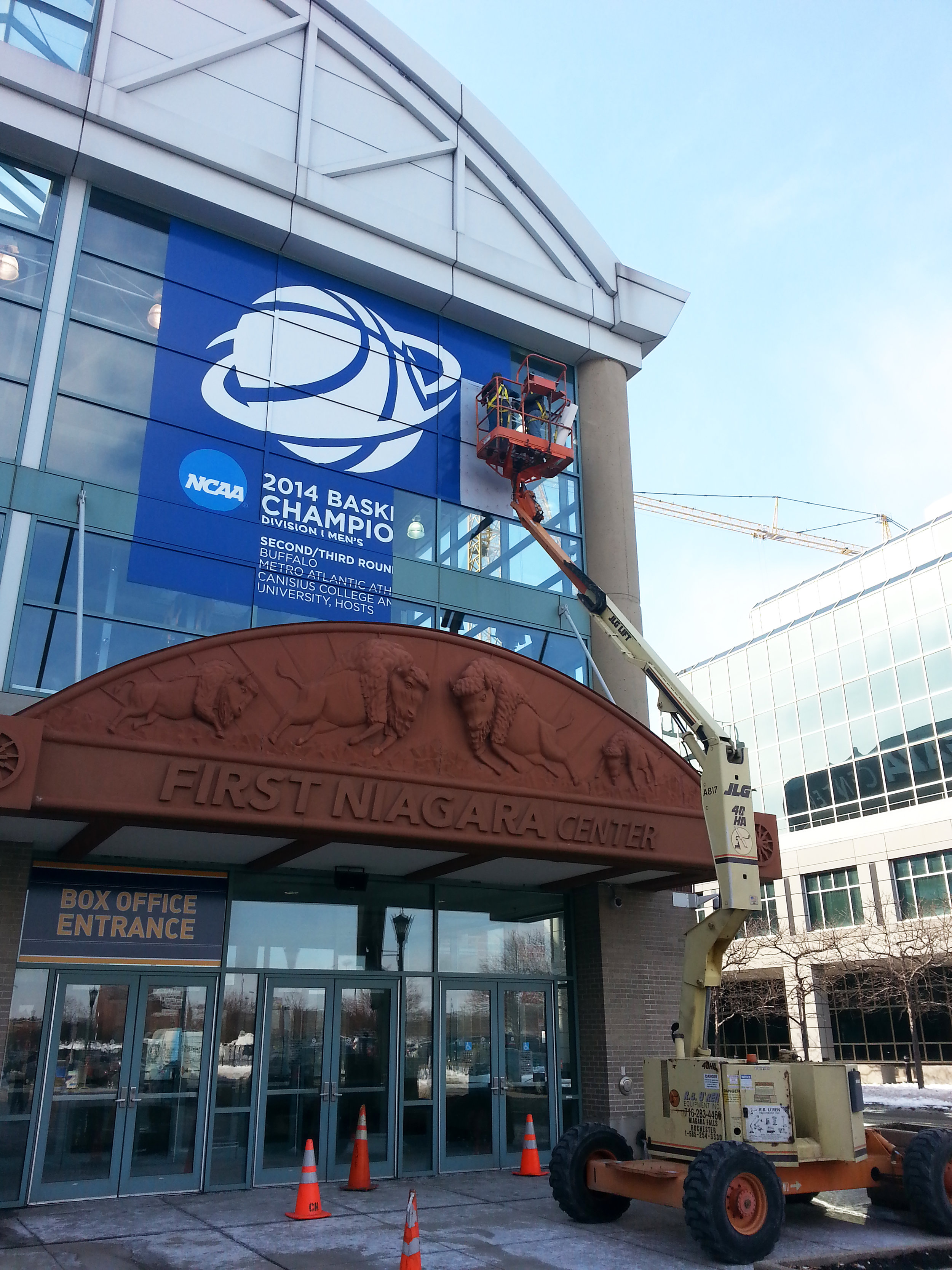 Pegula Sports & Entertainment - 2014 NCCA Basketball Window Mural