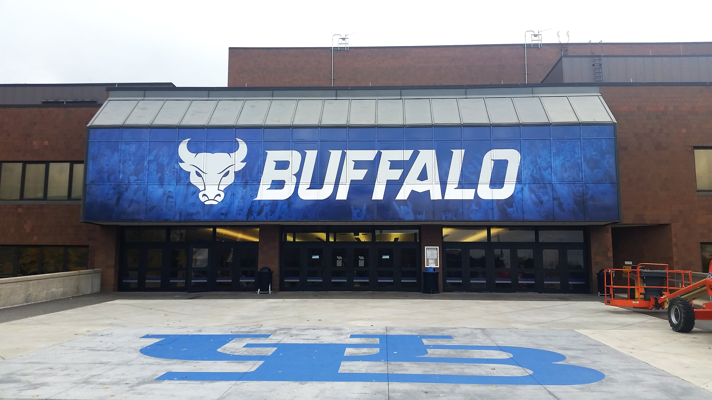University at Buffalo - Alumni Arena Entrance Window Mural