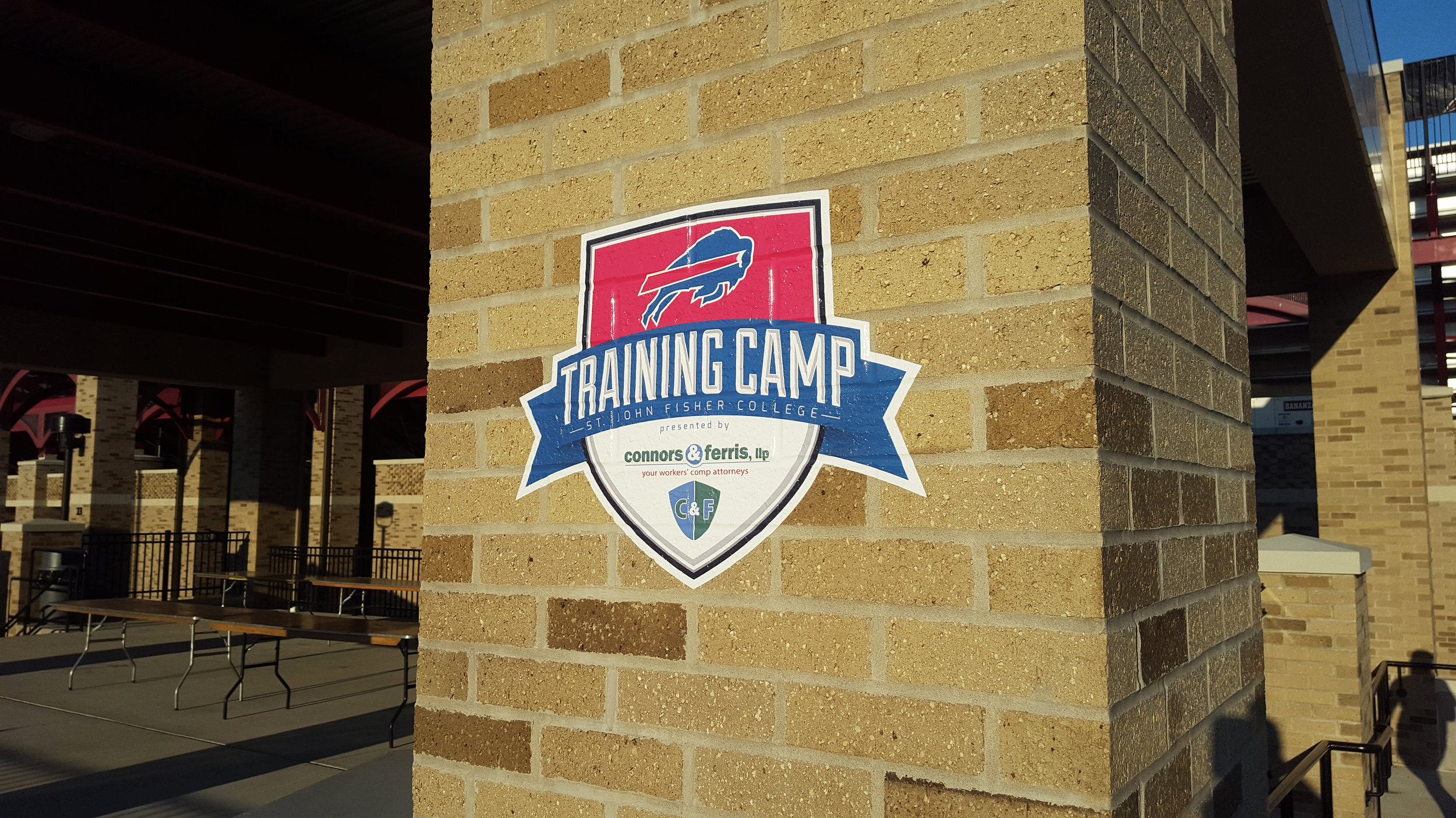 Buffalo Bills - Training Camp Brick-Wrap Vinyl Graphic