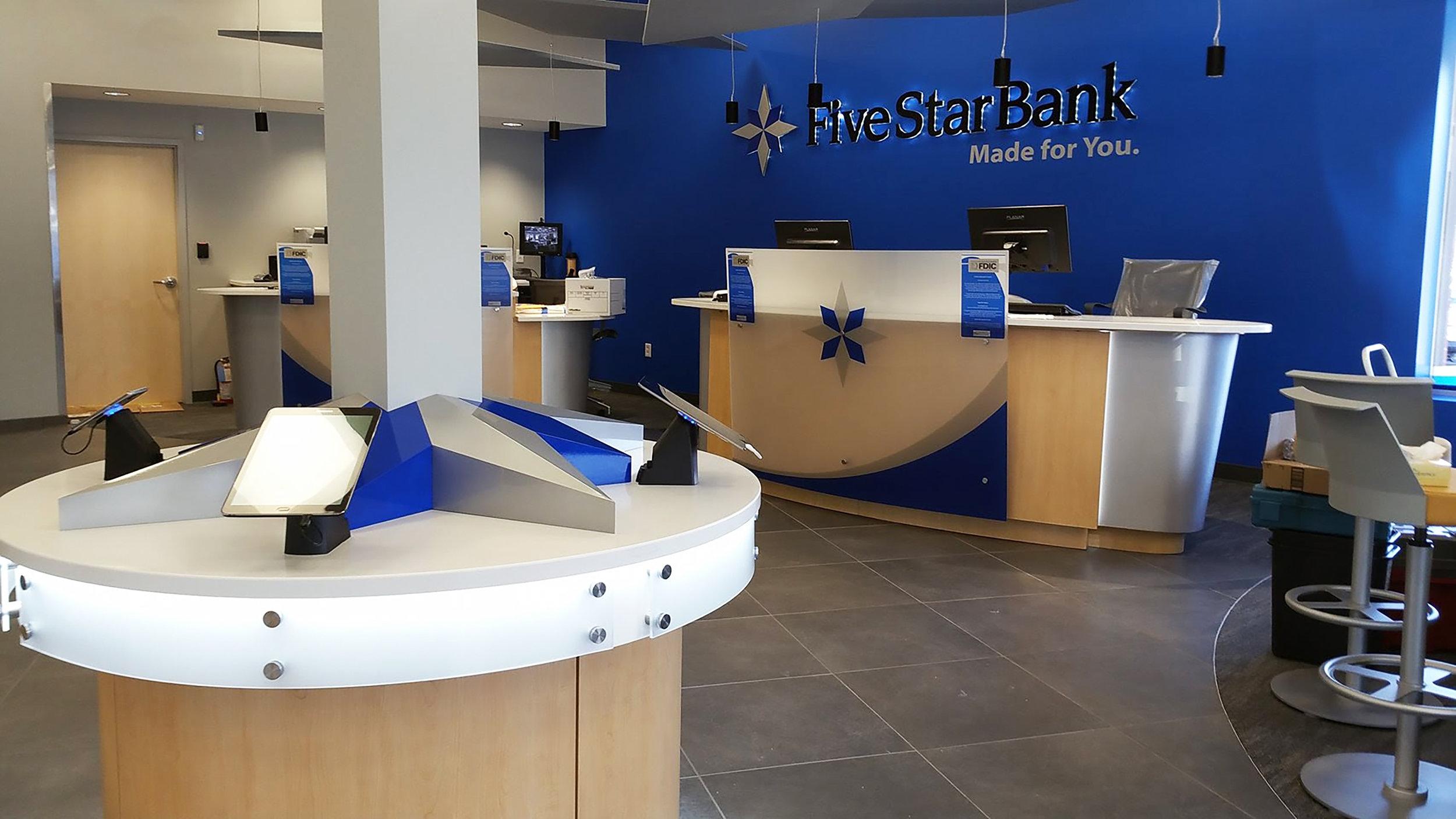 Five Star Bank - Backlit Lettering and Custom Formed Metal Star