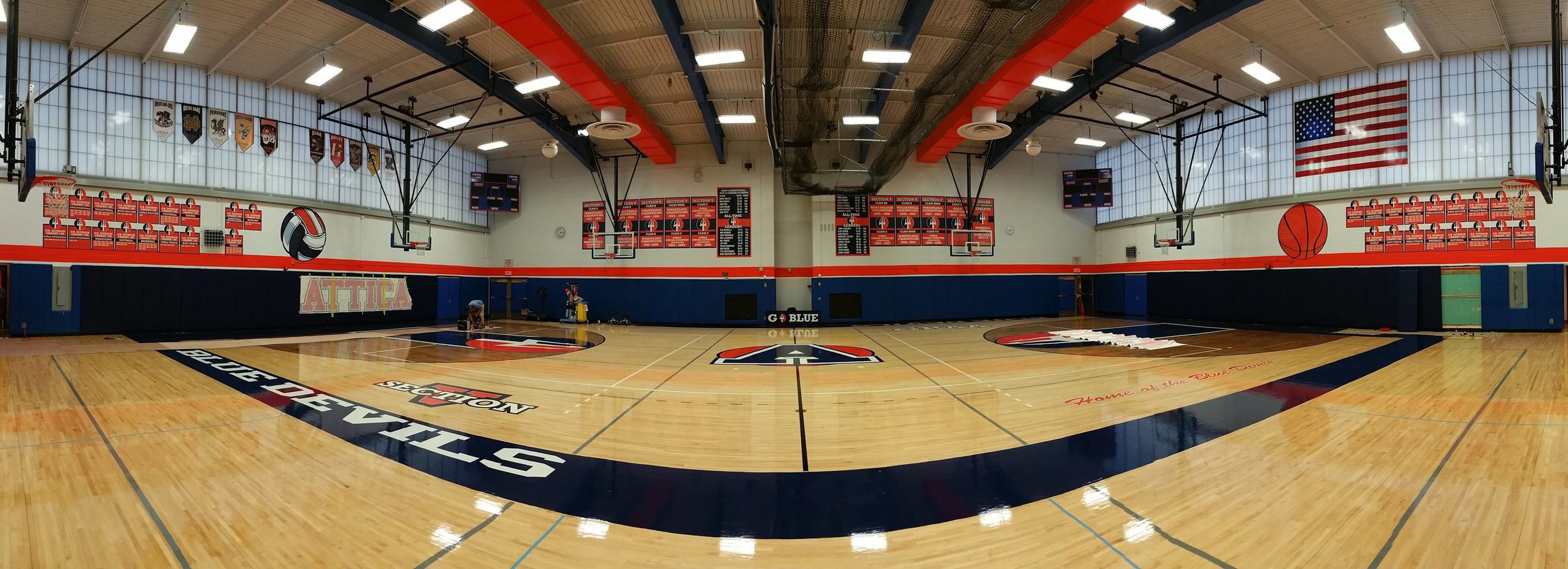 Attica Central School District - Gymnasium Rebrand and Changeover