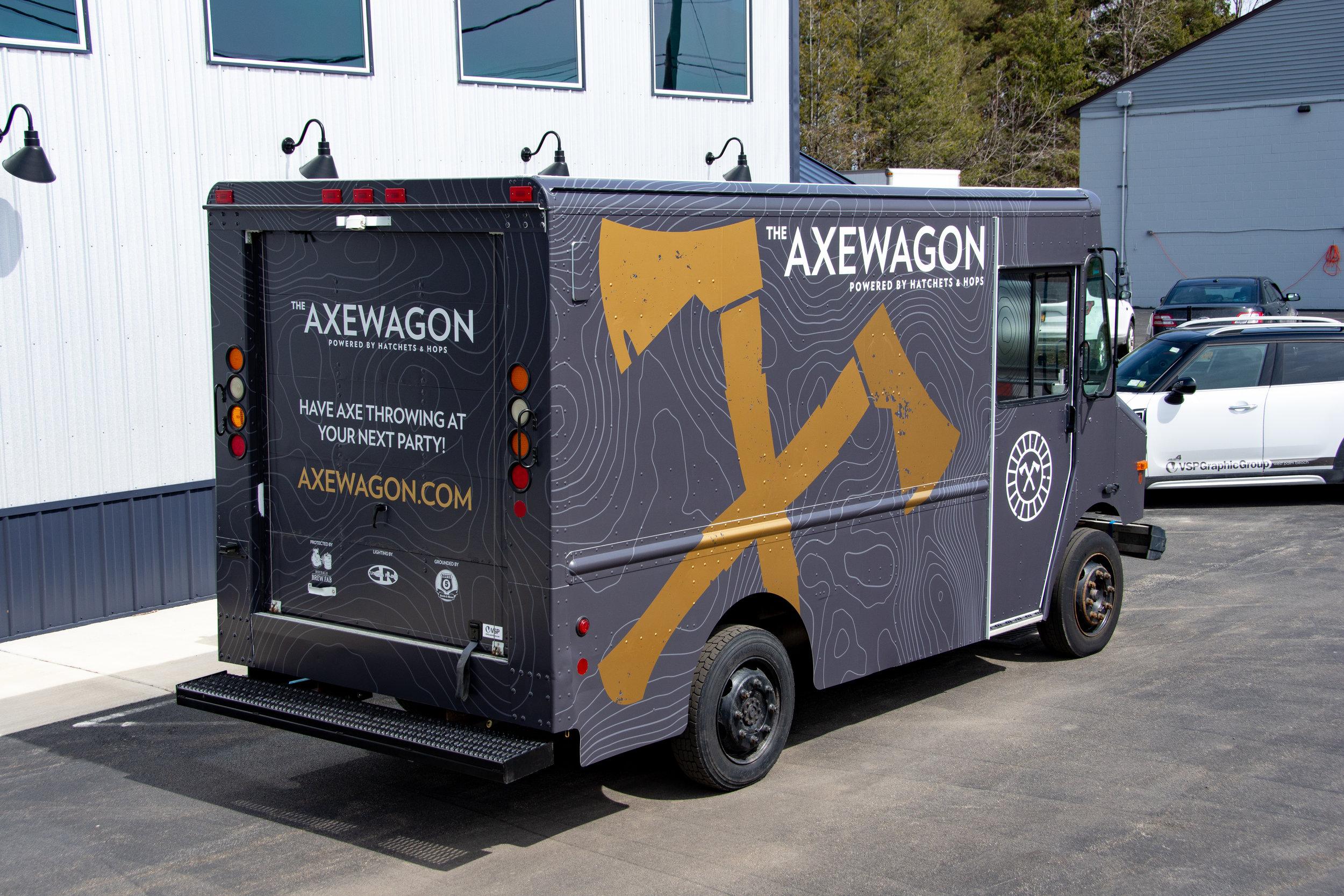 Hatchets & Hops - Axewagon Truck Wrap