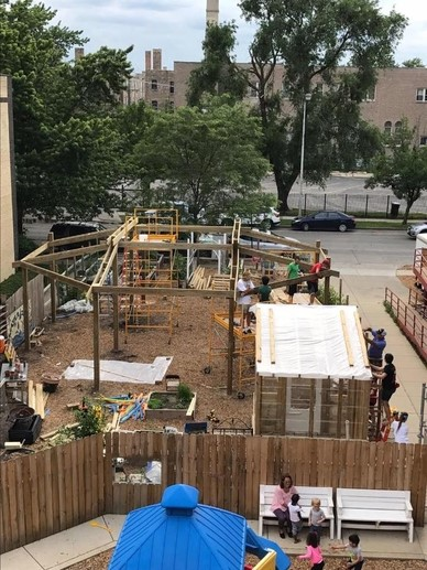 Rev. Wesley Dorr, Deacon, facilitated a work group to build a greenhouse for the Peace Center of Rogers Park.The Peace Gardens are found on the south side of the church building on Ashland Street side. -