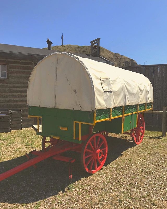 Heritage Day is coming up this Monday! Come celebrate by experiencing a covered wagon ride just like a true pioneer 🤠 The rickety sounds and lively bumps are sure to transport you back to 1870 🕰 • • • #fortwhoopup #yql #heritageday #pioneer #1870 #travelalberta #travelcanada #explorealberta #explorecanada #wagonride @tourismlethbridge