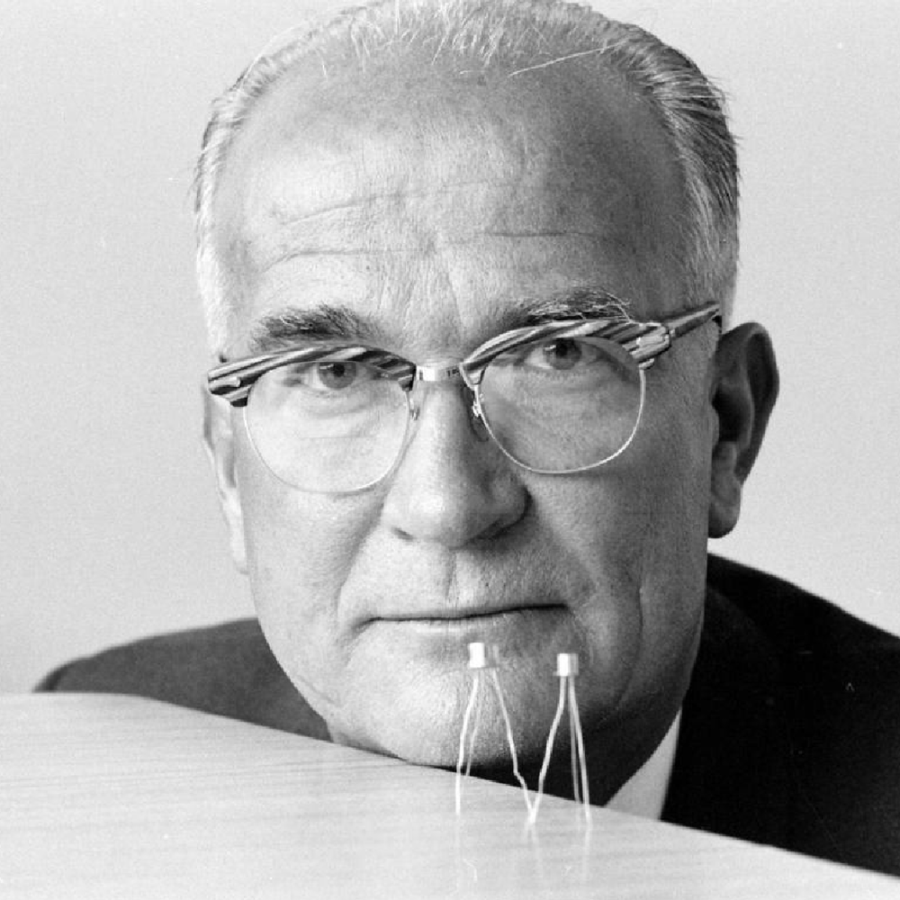 William Shockley with transistors