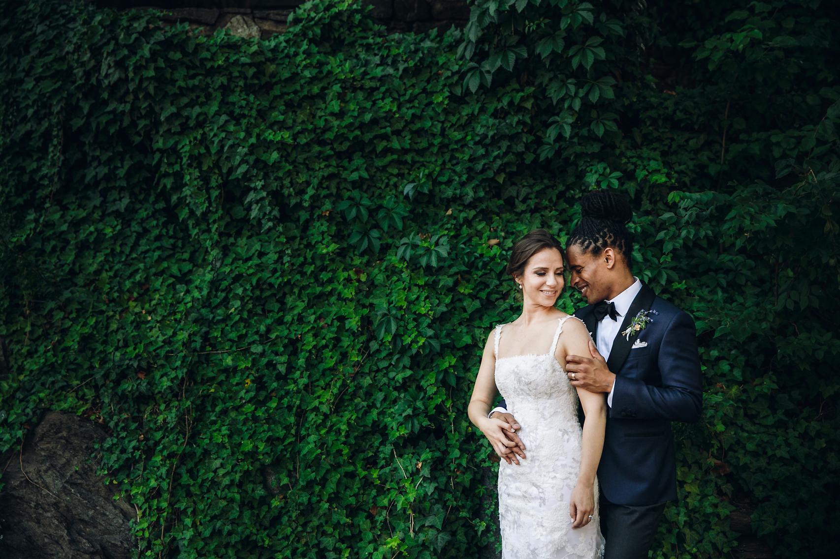 Bride and groom in Washington DC wedding