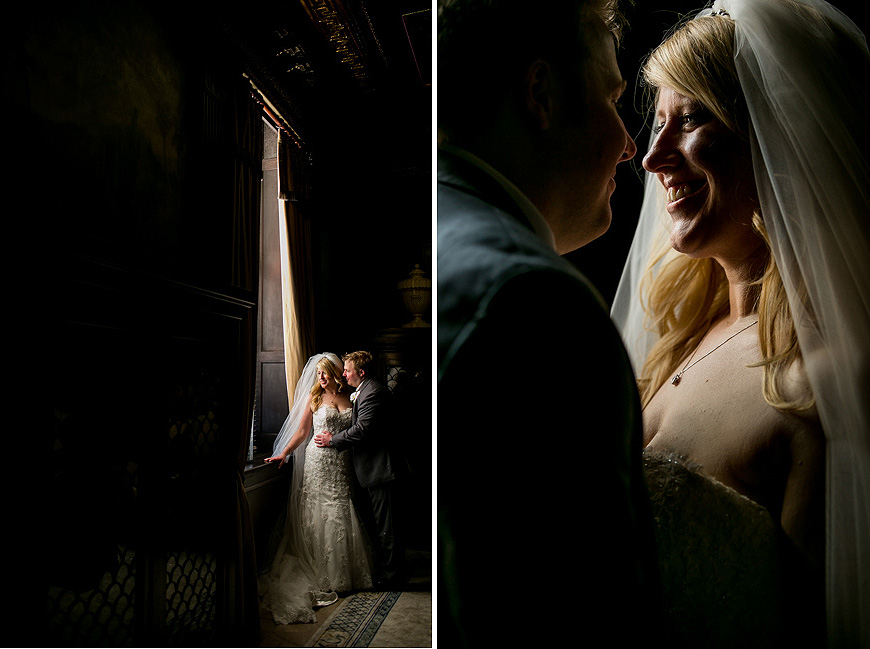 Wedding portraits in natural window light at the Grand Historic Venue in Baltimore