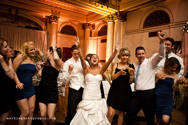 Bride and groom dance at their wedding at the Baltimore Grand