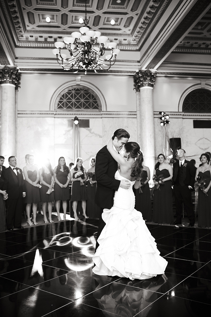 First dance at wedding at the Baltimore Grand
