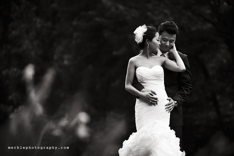 Wedding portraits outdoors at Strong Mansion in Maryland