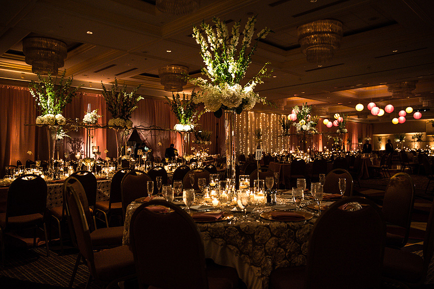 Extravagant wedding decor at a Washington DC wedding