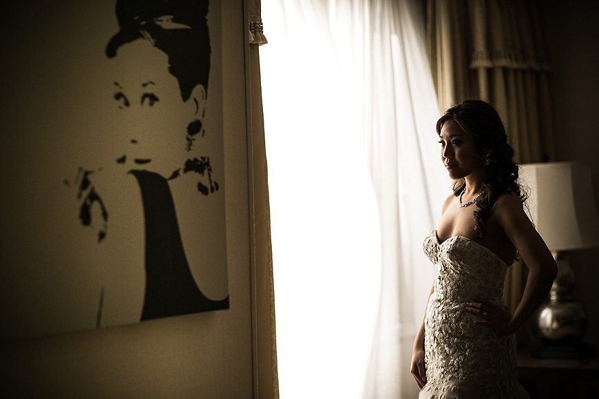 Bride striking a pose at the Renaissance Hotel in Washington DC