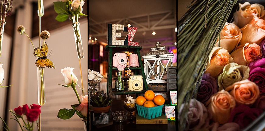 Various wedding details at American Visionary Arts Museum Wedding