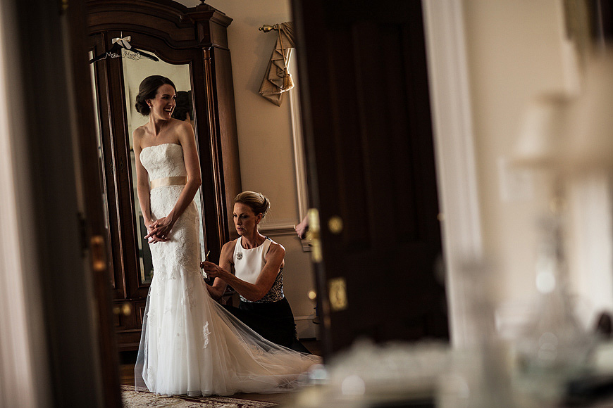 Bride getting ready at Stone Manor Country Club