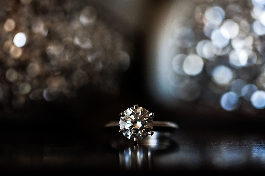 Engagement ring with bokeh at the Four Seasons Baltimore
