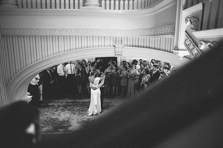 Bride and groom dancing at Liliodendron wedding