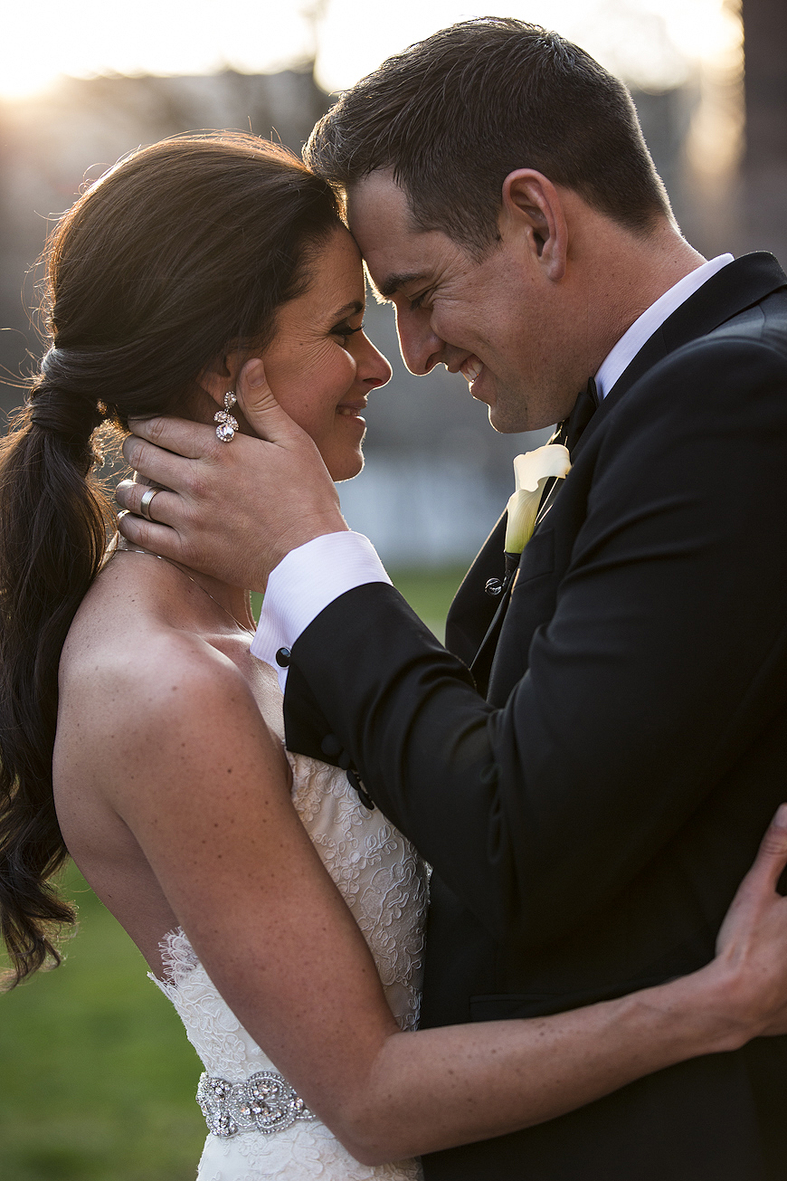 Bride and groom posed by one of Philadelphia's best wedding photographers