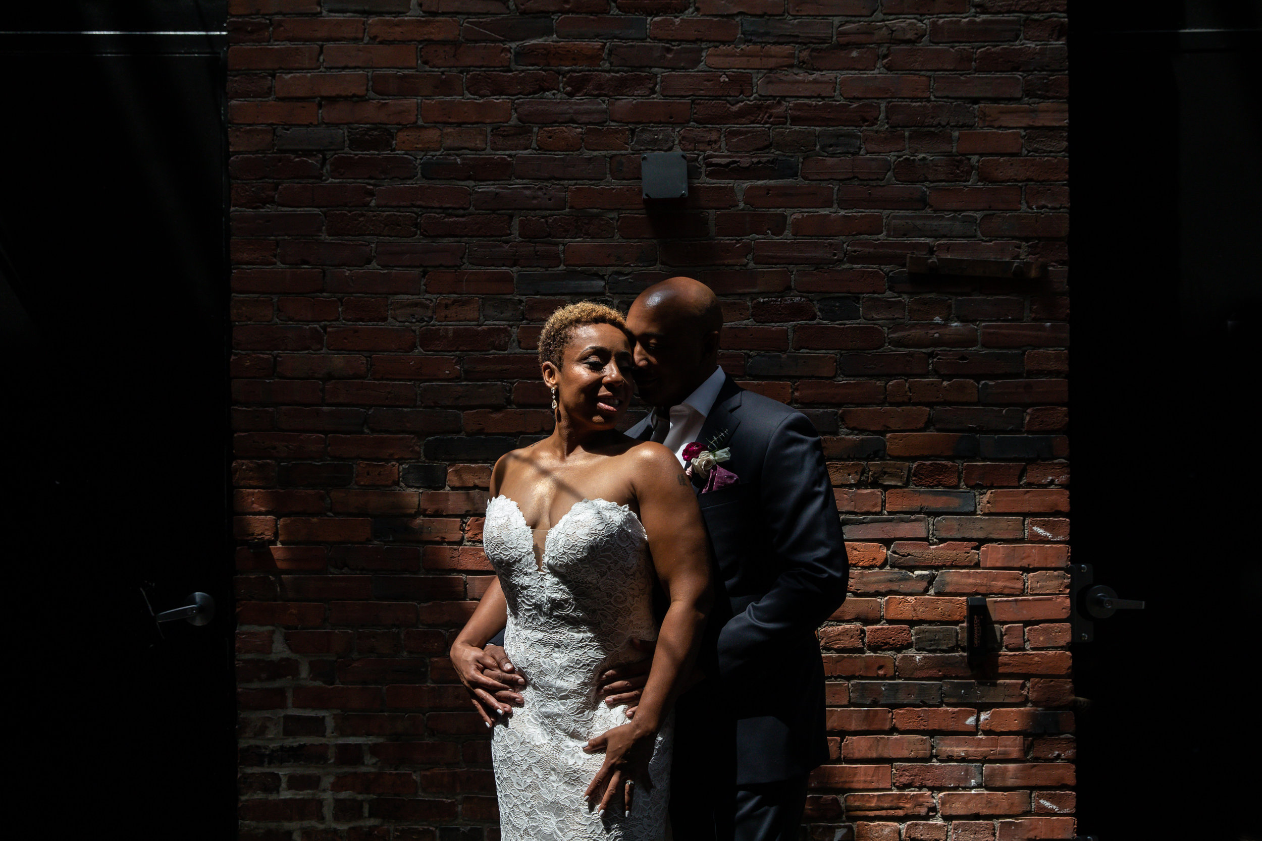 Wedding couple at Tagliata Restaurant Baltimore MD