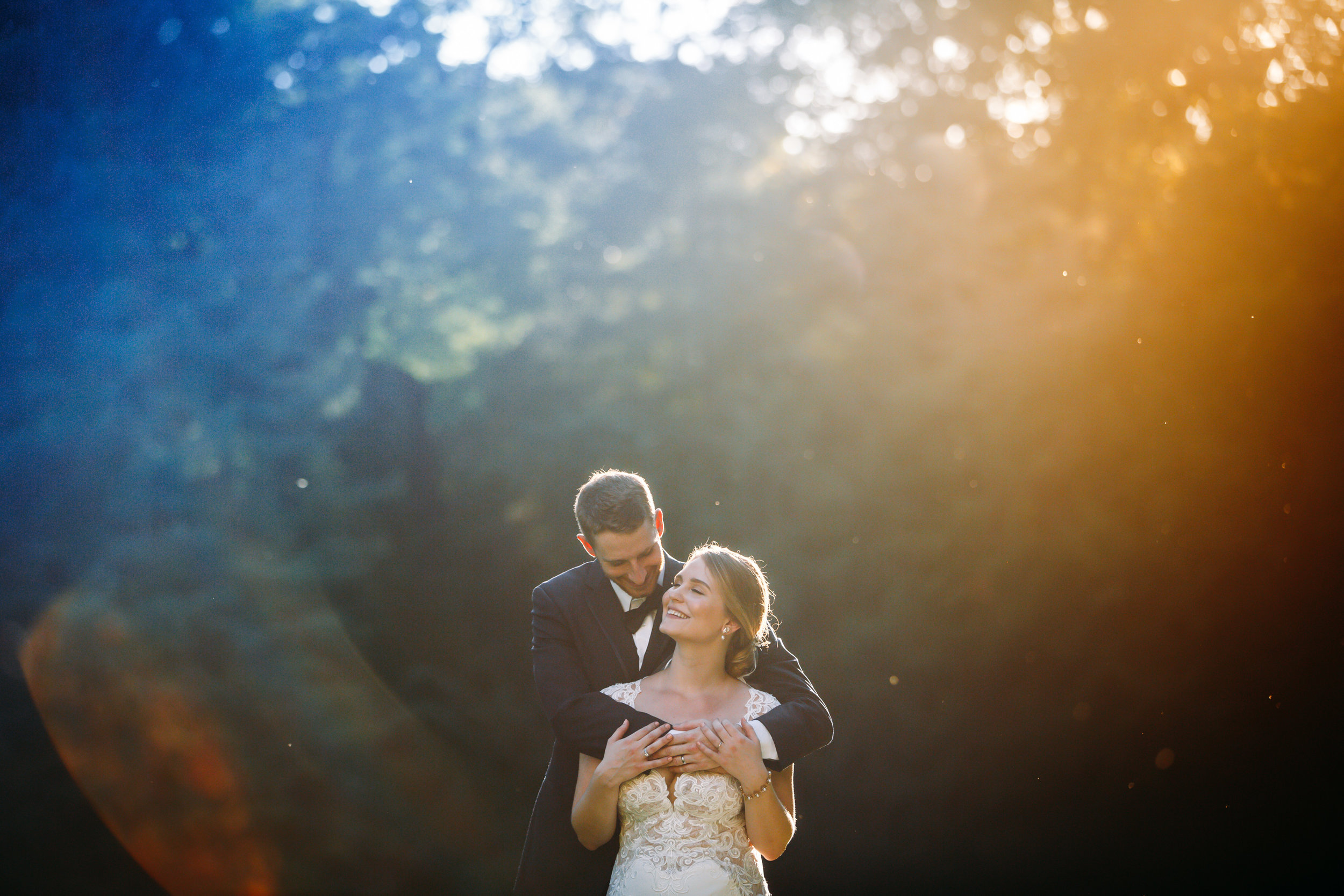Couple in beautiful natural light at sunset, Evergreen Museum, Baltimore MD