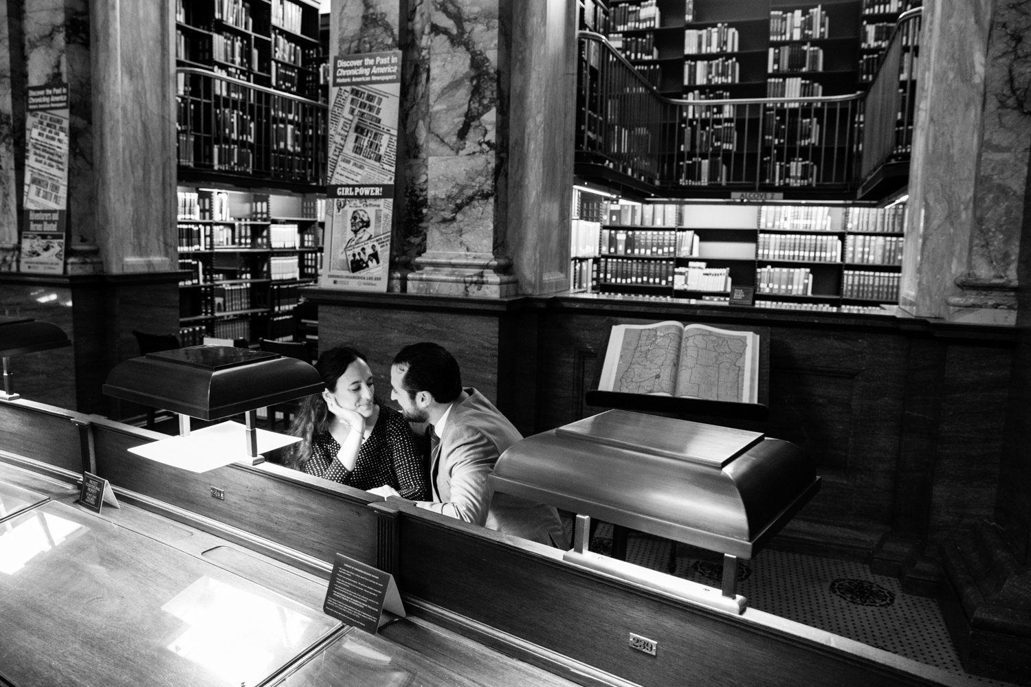 Library of Congress Wedding Engagement Session