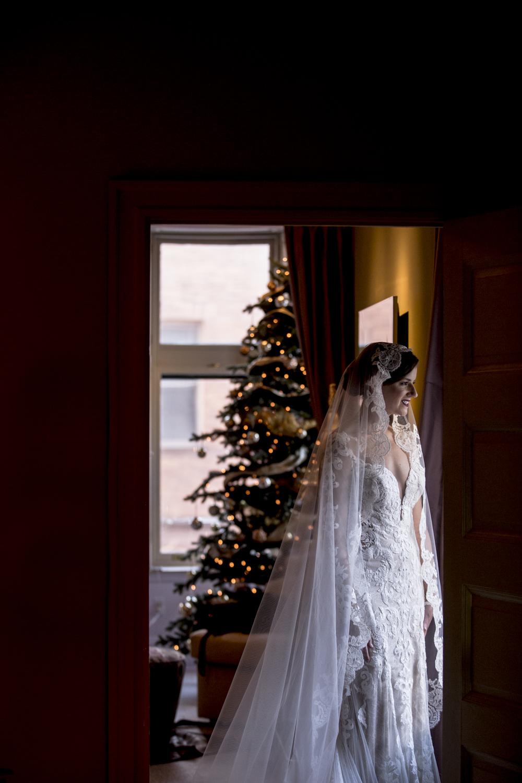 Bridal portrait, Ivy Hotel Baltimore
