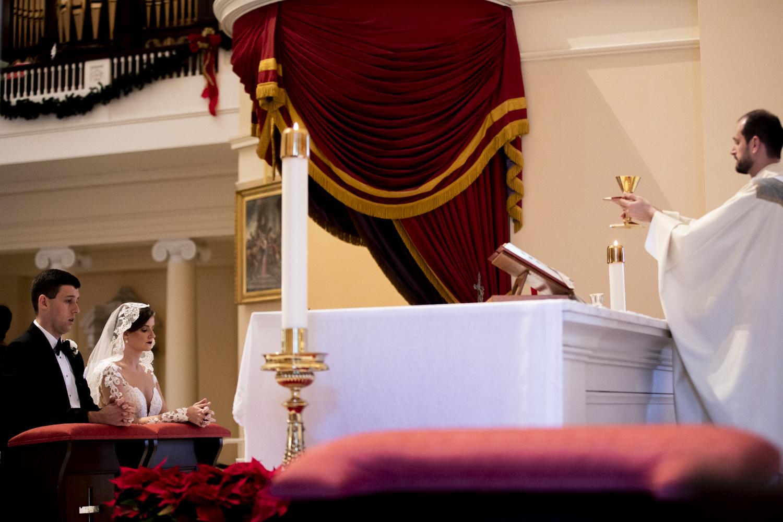 Wedding at the Baltimore Basilica