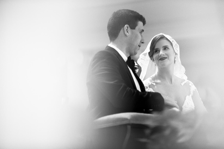 Wedding couple at the Baltimore Basilica