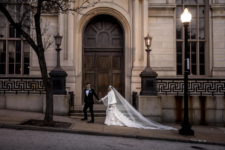 Wedding portrait in Mount Vernon Baltimore
