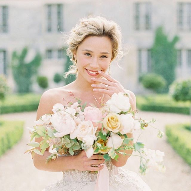 Absolutely exquisite 🌿 • • • • As seen on @stylemepretty  Venue @chateau_de_villette  Design & Planning @coutureevents  Photographer @sophiekayephotography  Florists @floraisonparis  Hair & Make up @emily.artistry  Fashion Coordinator @travellur  Stationary @theoberrystationery  Tabletop Rentals @madamedelamaison  Model @alisoncossenet  Jewelry & hairpieces @lindsaymariedesign  Shoes @bellabelleshoes