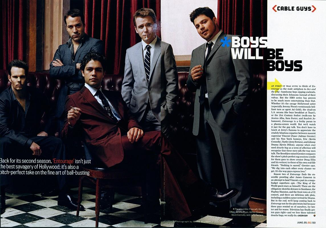 The cast of Entourage for GQ