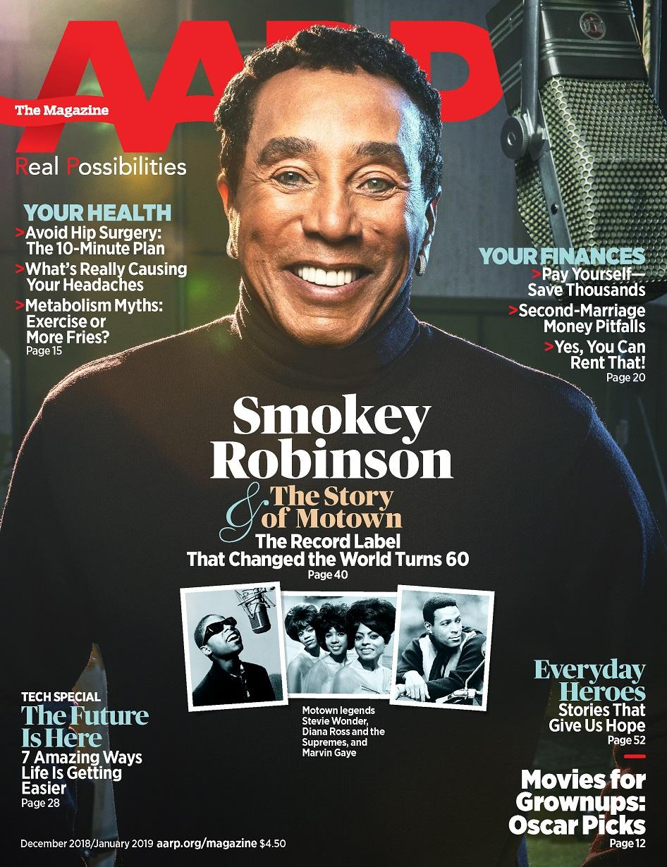 Smokey Robinson, AARP December 2018