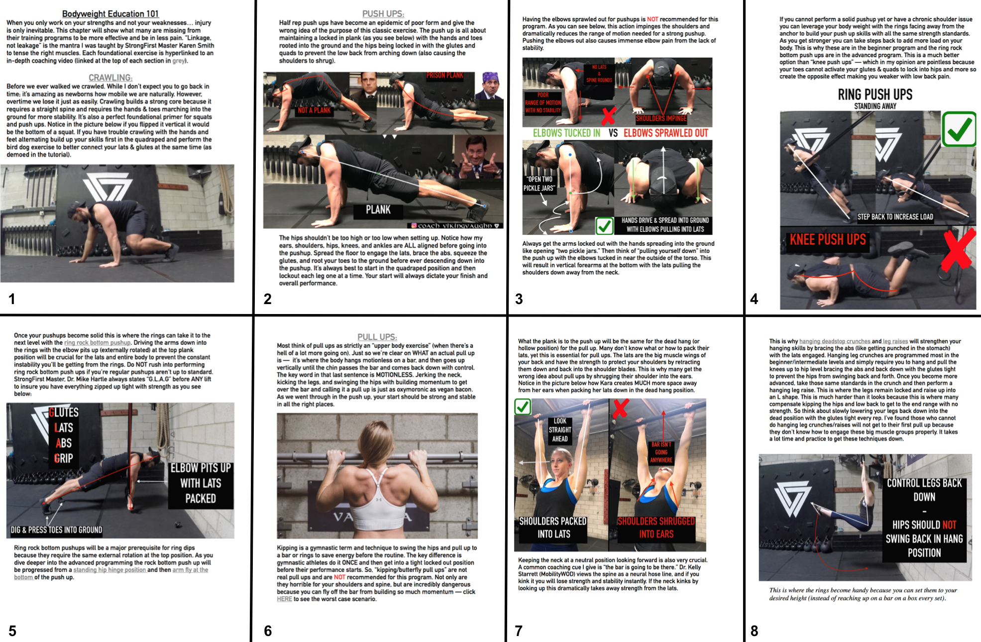 Ebooks comes with a full chapter on Bodyweight Education 101 with detailed images and hyperlinked video tutorials