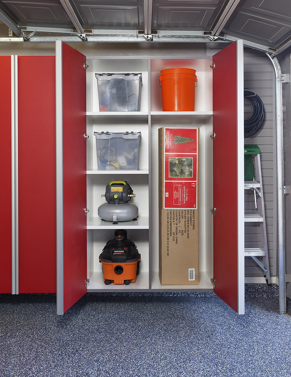 Red Cabinets w Vertical Divider-Adjustable Shelves for Tall Items-Aug 2013.jpg