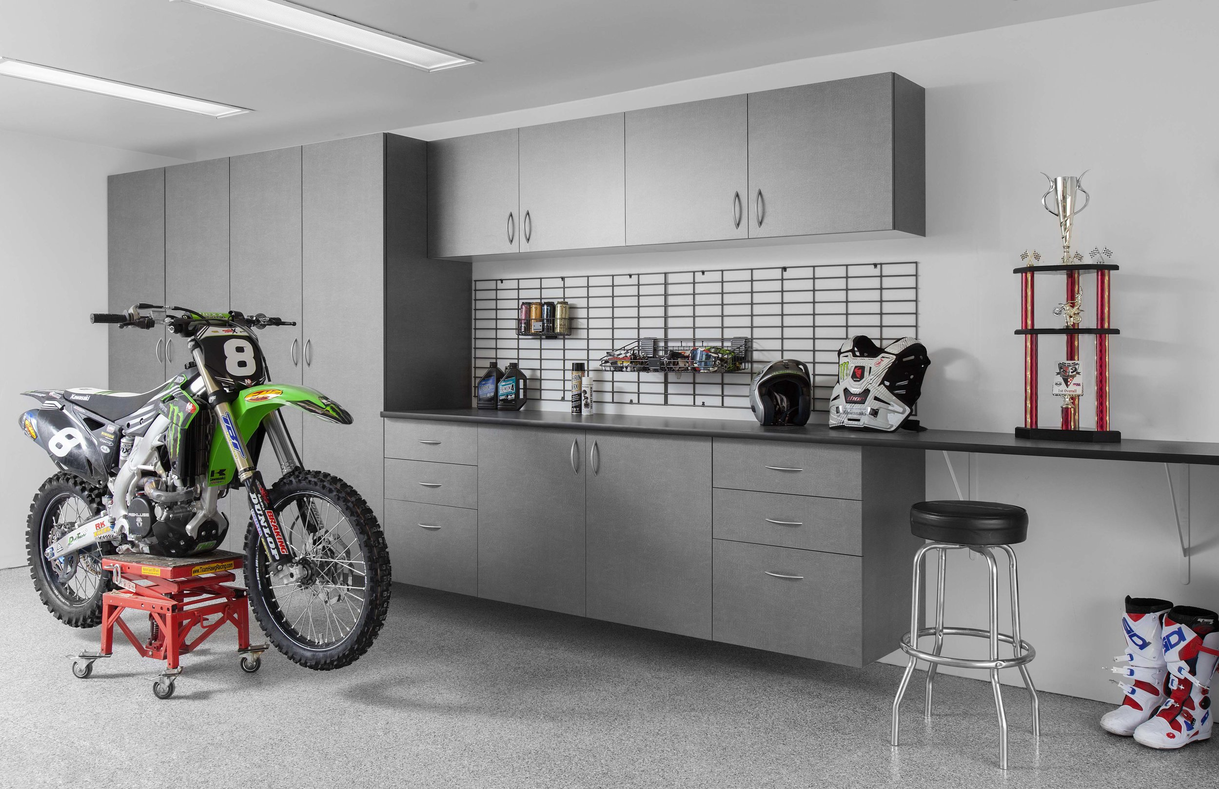 Pewter Cabinets-Ebony Star Workbench-Silverado Floor-Dirt Bike-Abbott-May 2013.jpg