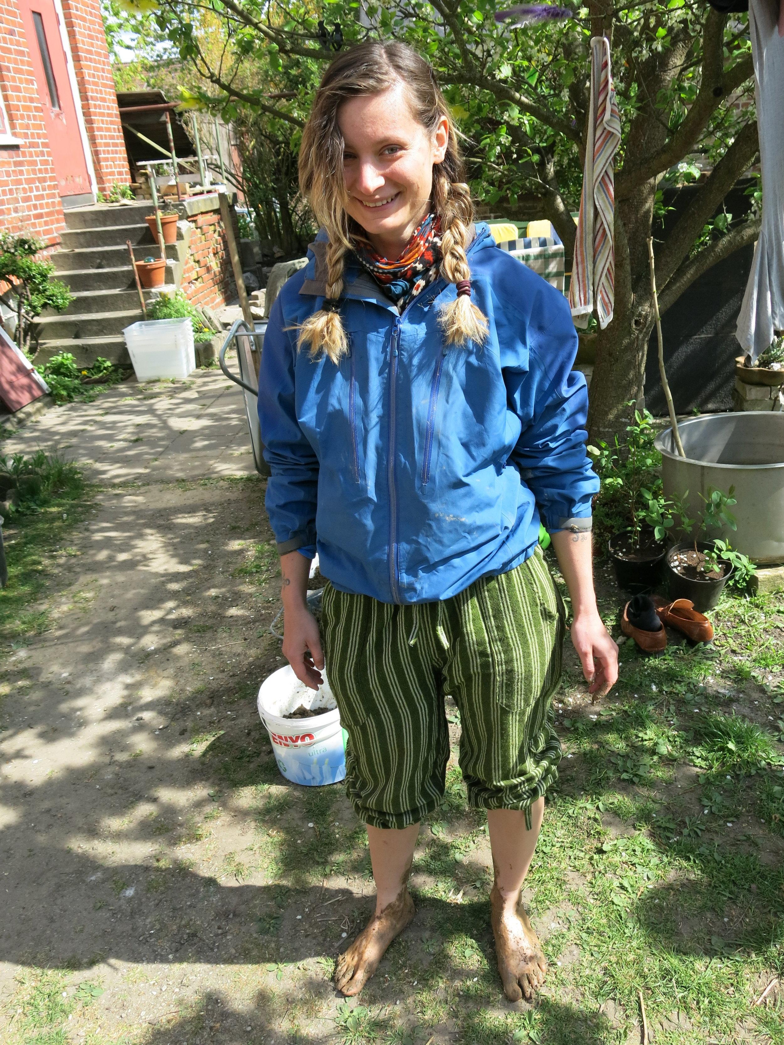 Happy Mud Mixer Girl.JPG