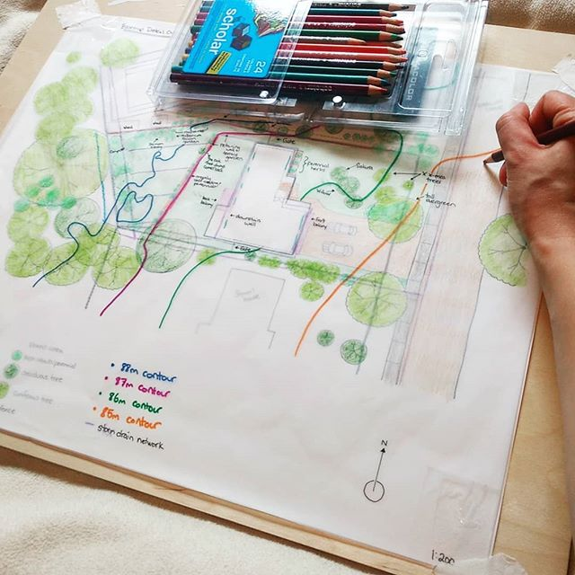 Having a quiet mapping day today... Working on a backyard permaculture design and figuring out some last details for the #kelownacommunitypdc. There are only 2 more spots are left in the course, which begins next weekend on April 27th! Come join an amazing group of students and community members as we learn how to design ecologically together. More info at luciebardos.net/courses. 🌱🌻🌷 . . . . #permaculturedesign #womeninpermaculture #ecologicaldesign #overlay #creativecartography #permaculturekelowna #quietday #makingmaps #pdc #permaculturecourse #kelowna #permaculturedesigncourse