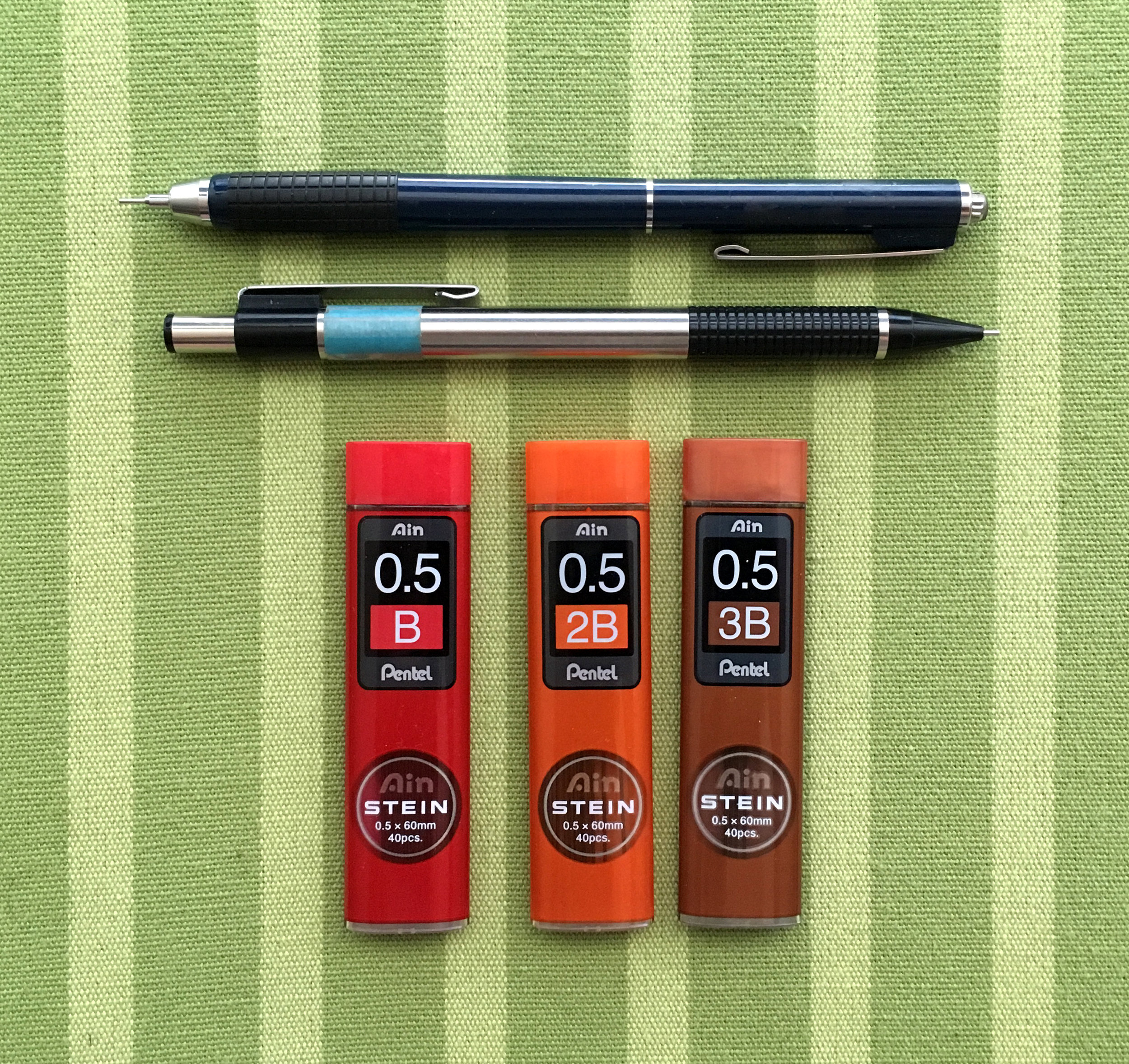 """I'm always misplacing my mechanical pencils, so I like to have several on hand, as well as plenty of extra lead. Plus, I recently """"discovered"""" 3B mechanical lead. So soft and dark. Heaven. Rivals my 4B pencils."""