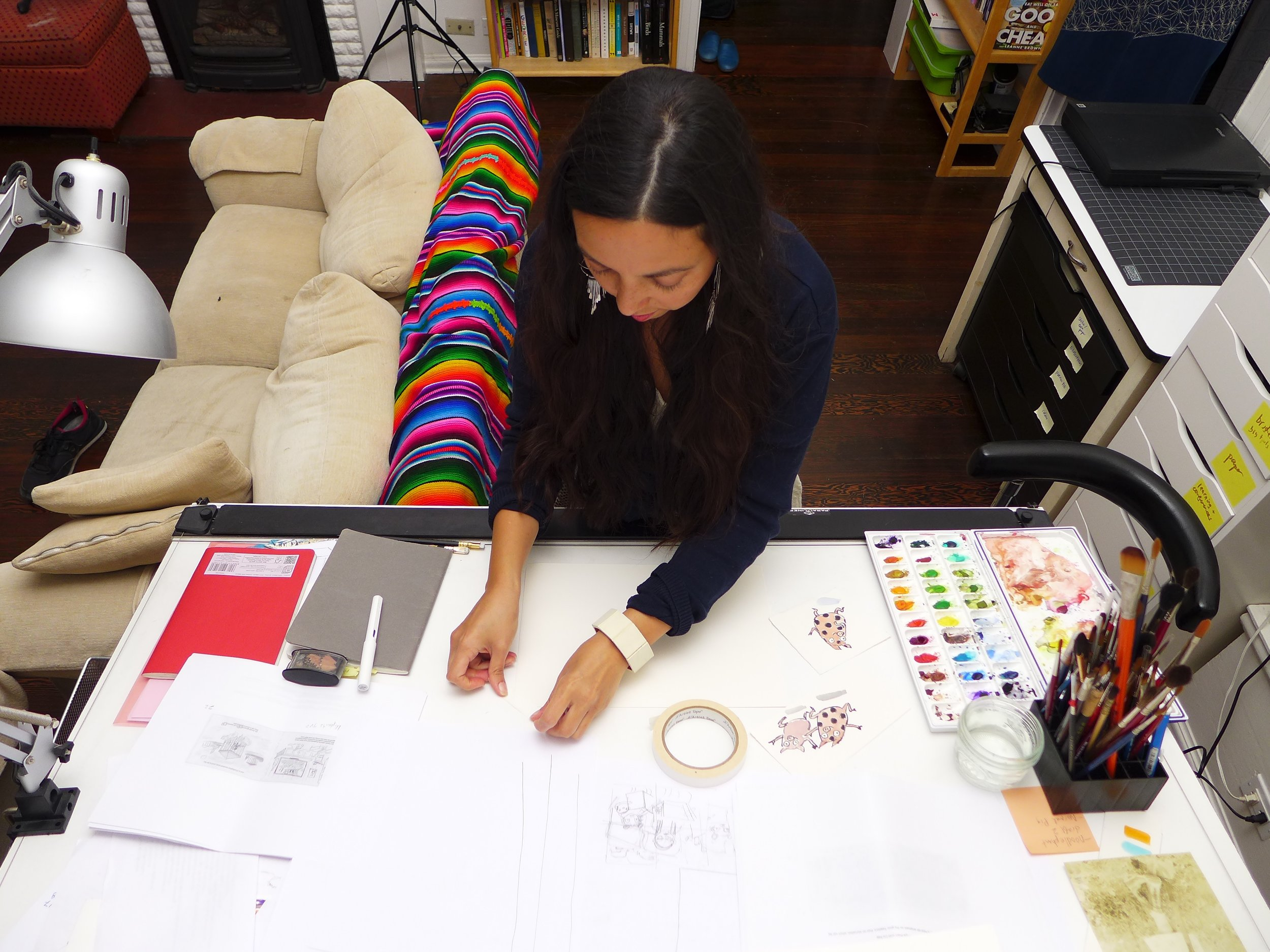 K-Fai Steele in her home studio - Photo: RL Davis