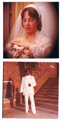 Coach T and Becky at their Wedding
