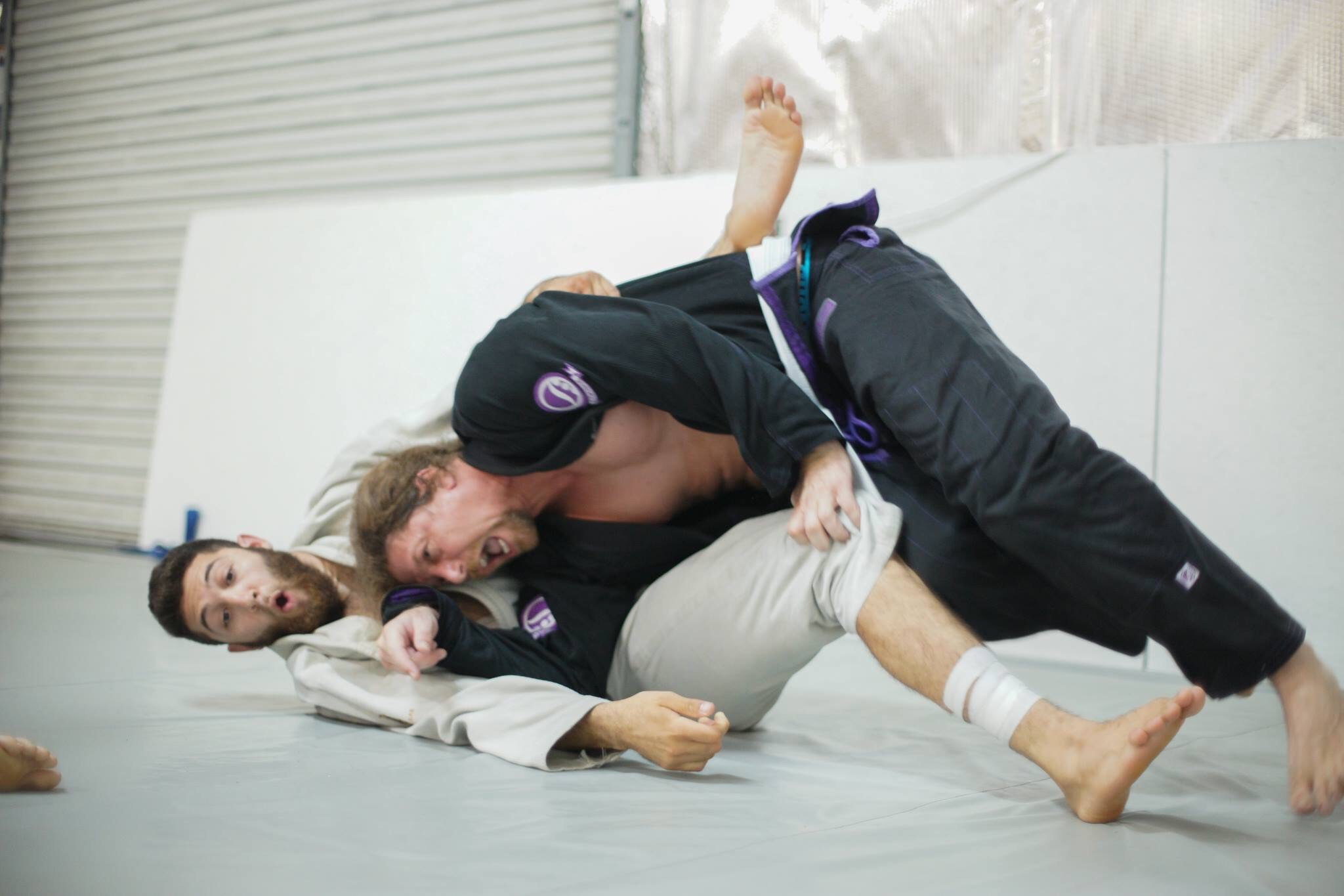 Hank practicing a submission