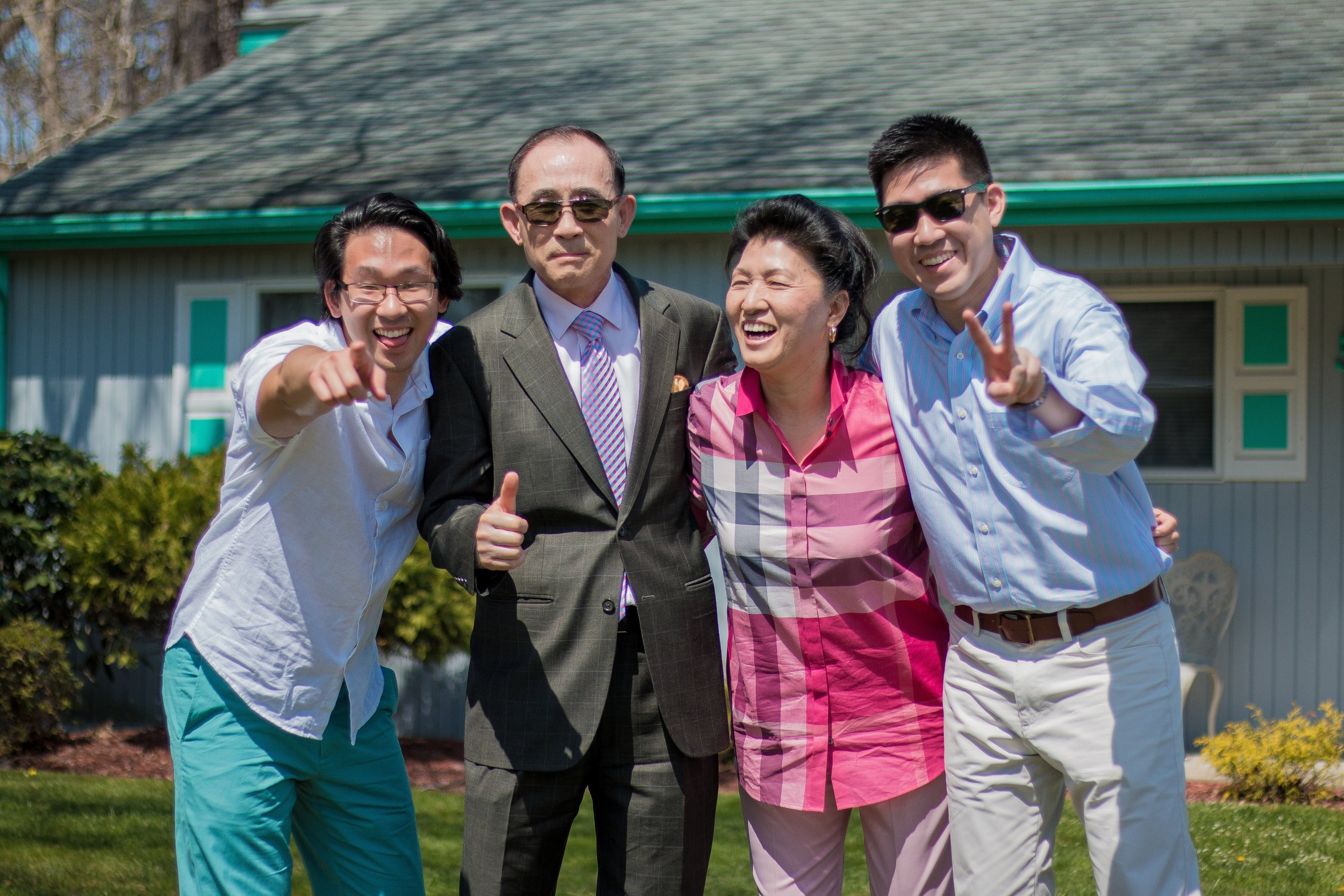 The Lee Family (Myself, Dad, Mom, Brother; April 2017)