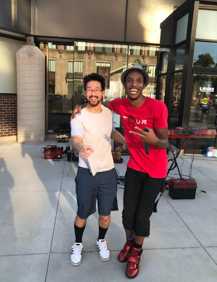 I joined AY for one of his concerts in Downtown Kansas City, Missouri