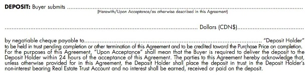 Elements Of An Offer Explained: The Deposit Photo