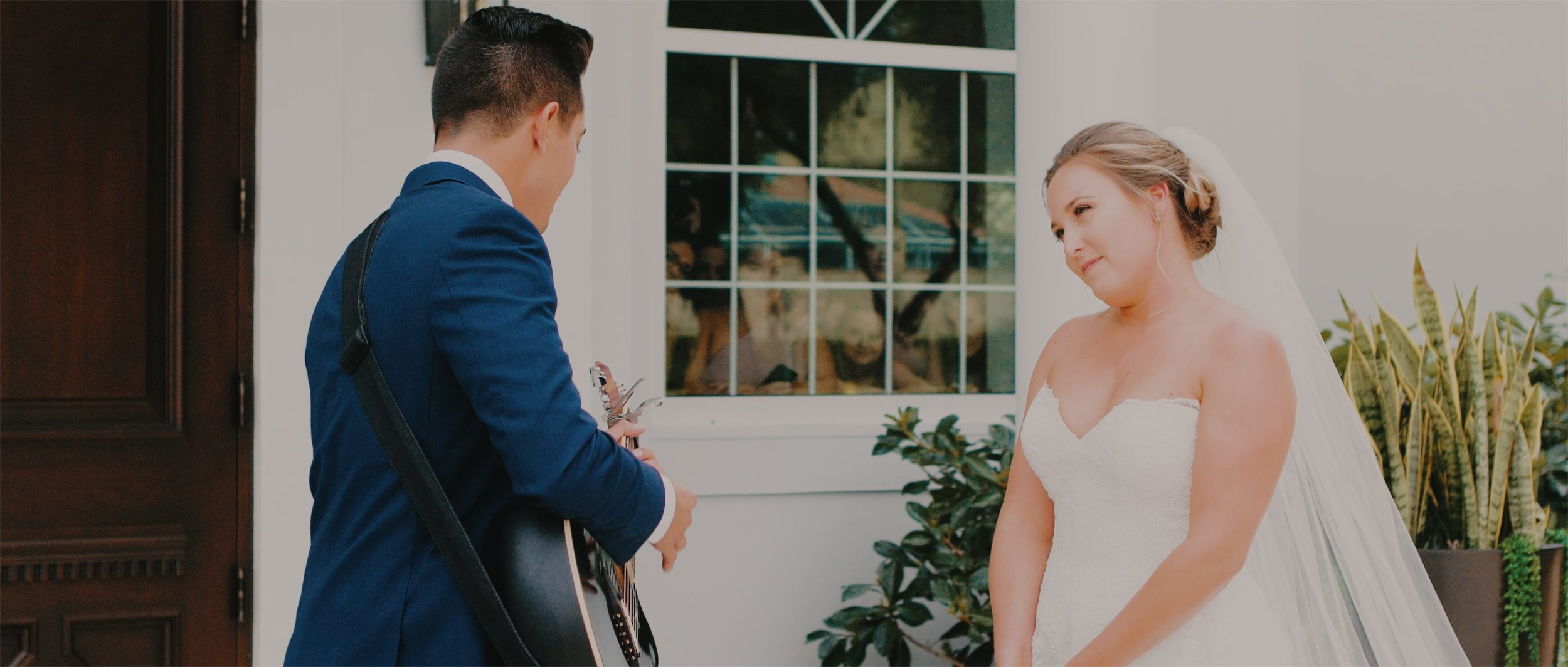Groom Plays Guitar For Bride at Florida Wedding