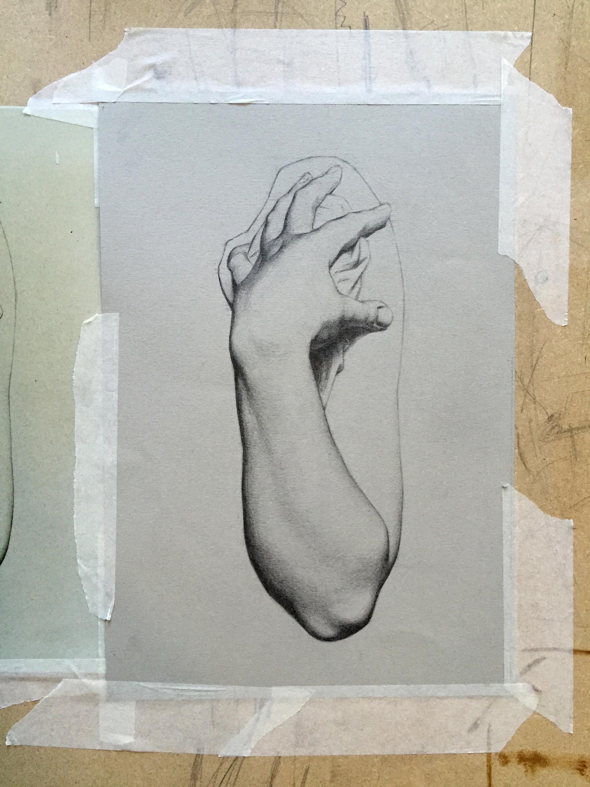 Charles Bargue Hand Study