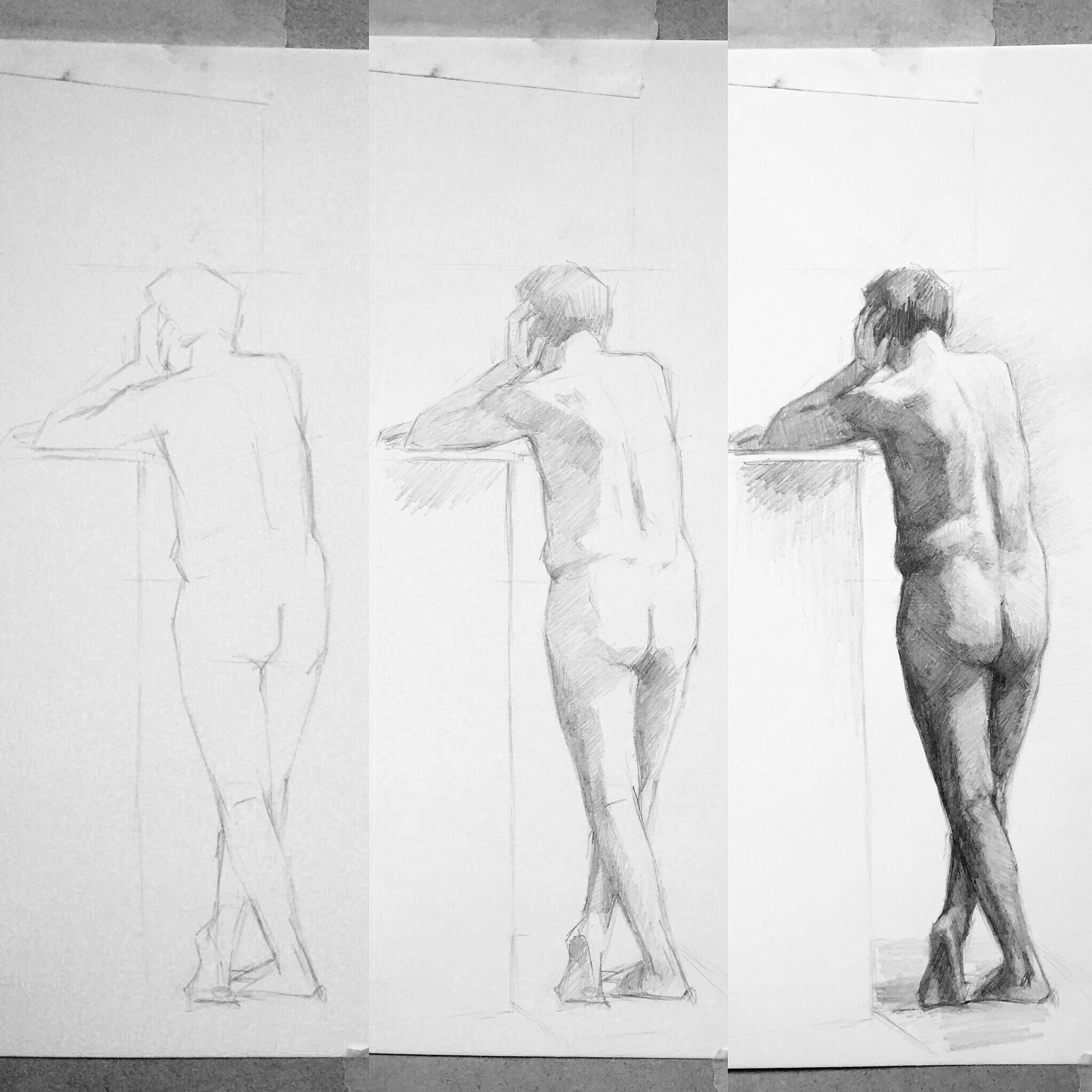 Figure study in sight-size