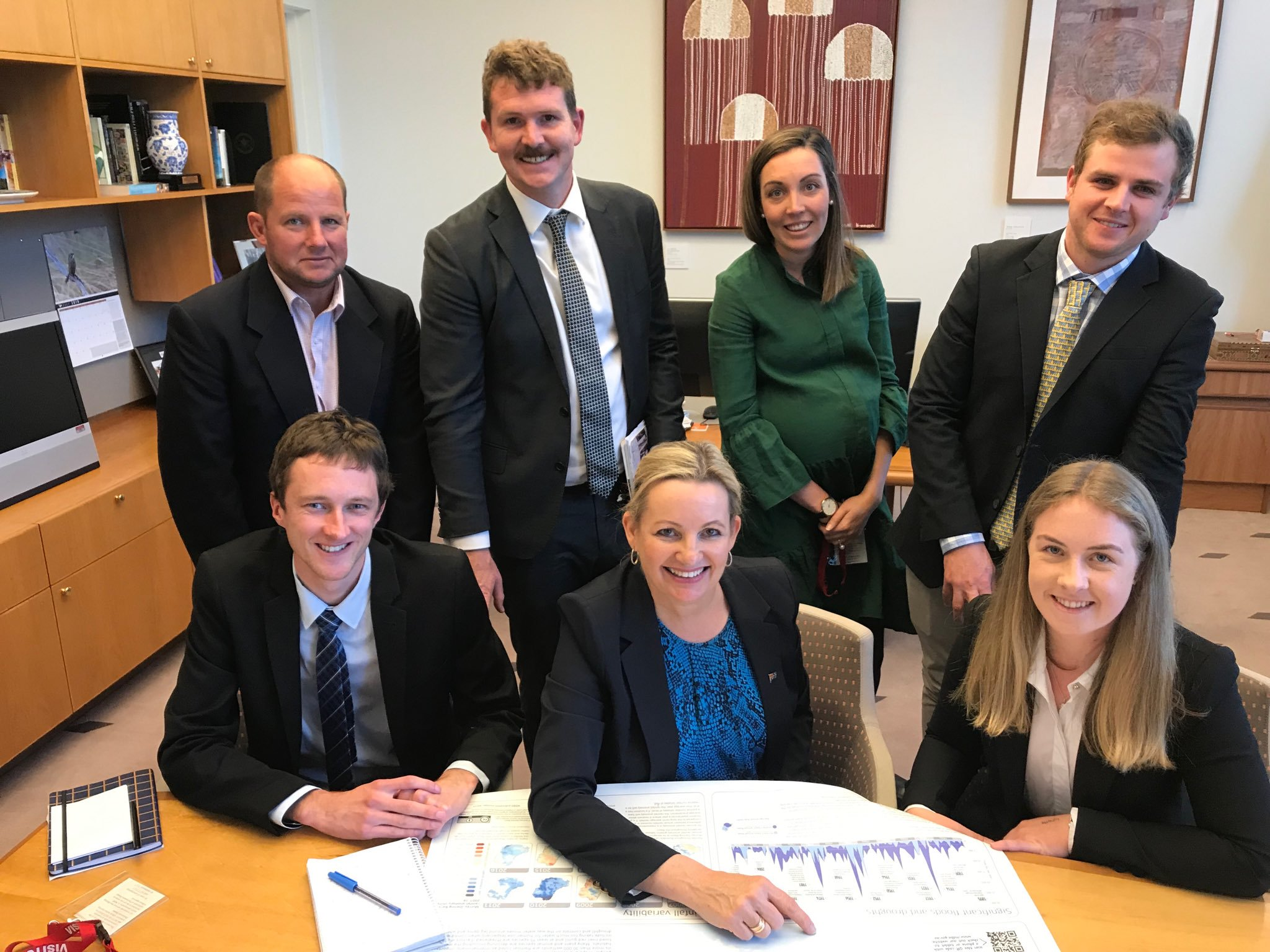 Troy Mauger (Rice Extension Coordinator) Tom Doyle, Rachel Kelly (RGA Policy Manager) Sam Sleigh, Josh Hart, Minister Susan Ley, Samantha Glenn