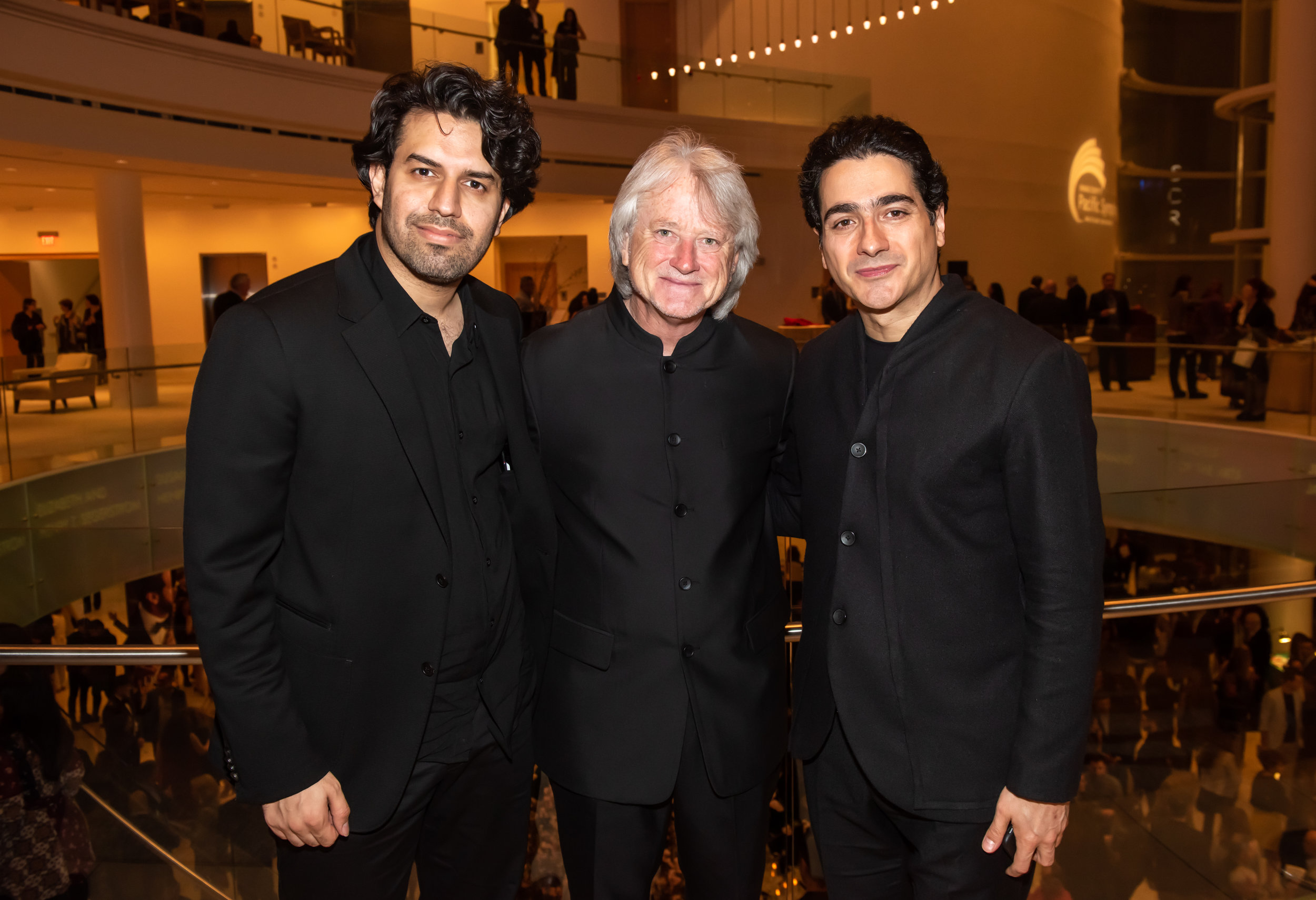 (left to right) Sohrab Pournazeri, Virtuoso of the Tanbour and the Kamancheh, is a sensational phenomenon of modern Iranian music, Carl St. Clair, Music Director of the Pacific Symphony, and Homayoun Shajarian, Persian classical music and Persian classical crossover Vocalist.