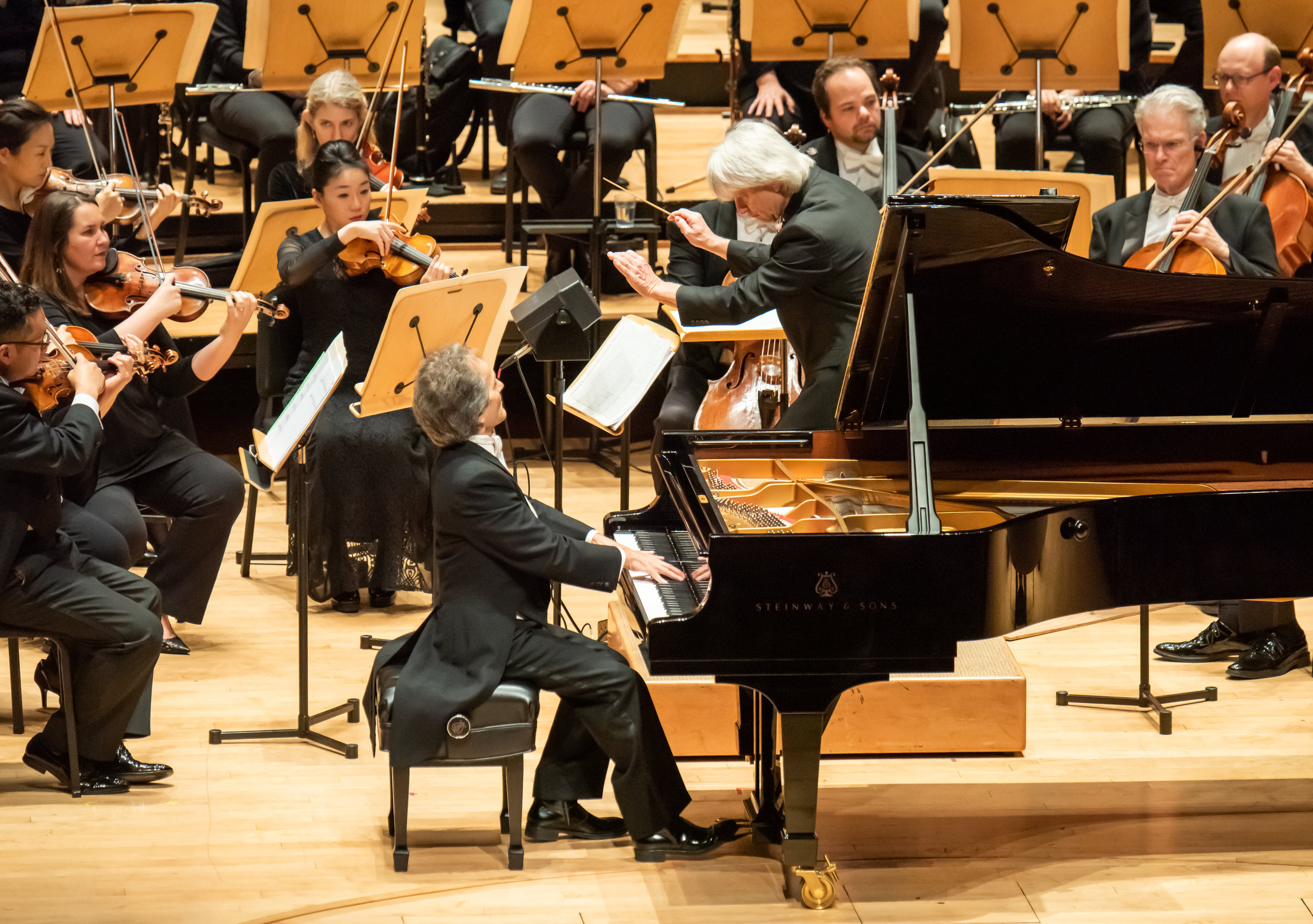 Music Director of the Pacific Symphony conducting the Orchestra with special guest   Shahrdad Rohani, at the Piano. Currently, Rohani   is Musical Director and Principal Conductor of the Tehran Symphony.