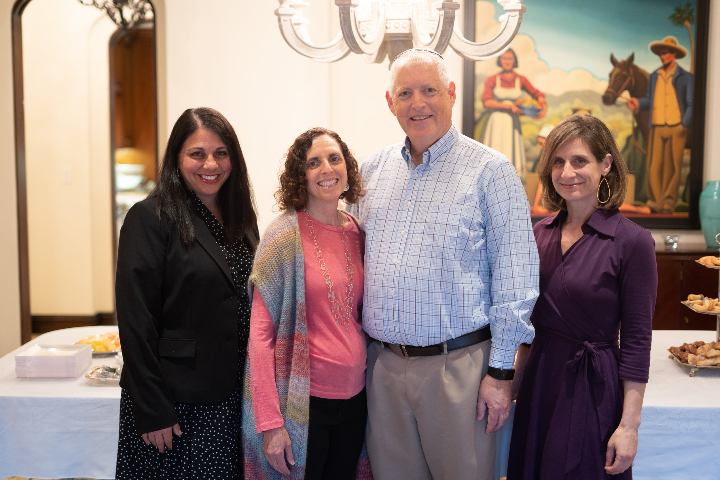 (left to right) Tammy Keces, Head of School for Irvine Hebrew Day School, Beth Elster, Andy Elster, Co-founder & CFO of Irvine Hebrew Day School and Karin Hepner , Co-founder & President of Irvine Hebrew Day School. *Photo Credit: Joel Austell